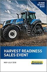 HARVEST READINESS SALES EVENT